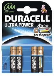 Pilas Duracell Ultra Power Aaa(Lr03) 4 Un Alcalina