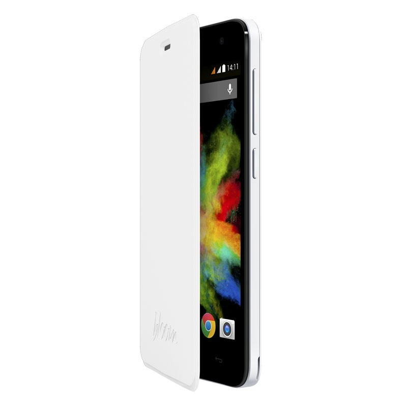 Funda Con Tapa Wiko Bloom Blanca