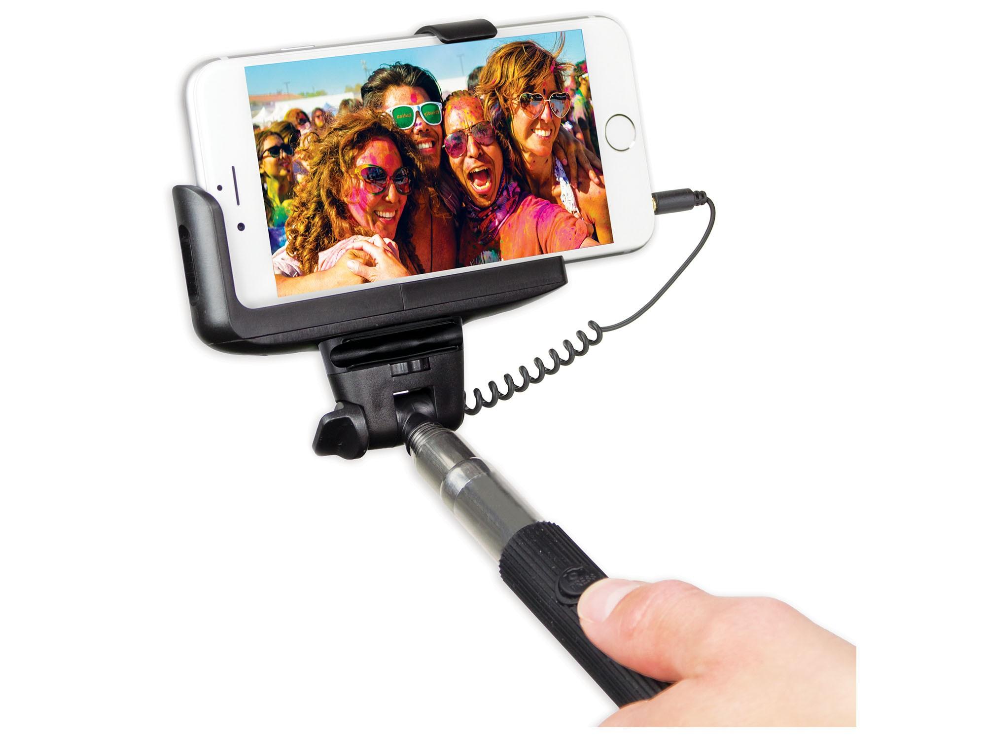 Palo Selfie Kit Monopod Con Cable Negro
