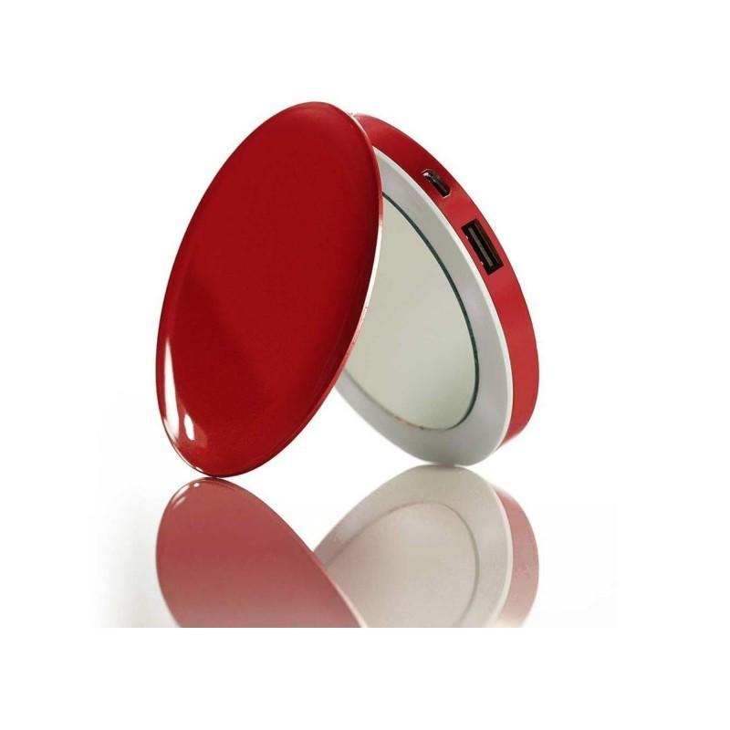 Espejo Power Bank Hyper Pearl Red Usb 3000mah