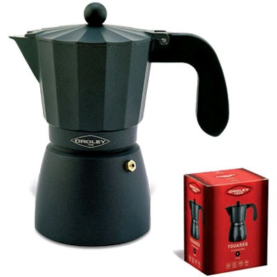 Cafetera Fuego Oroley Touare 6t Aluminio Negra