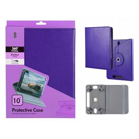 "Funda Tablet Universal 10"" Jc Rotacion 360 Morado"