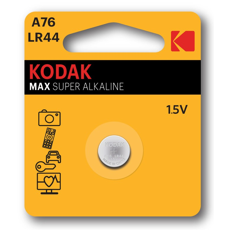 Pila Boton Alcalina Kodak A76 Lr44 (1un)