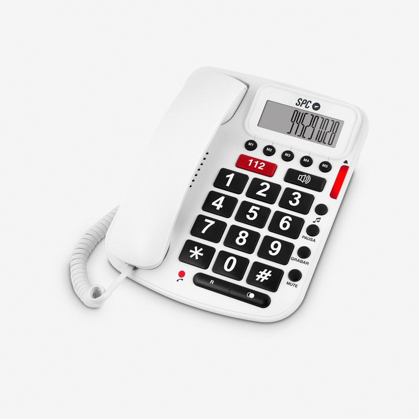 Telefono Sobremesa Spc Comfort Volume Senior Phone Blanco