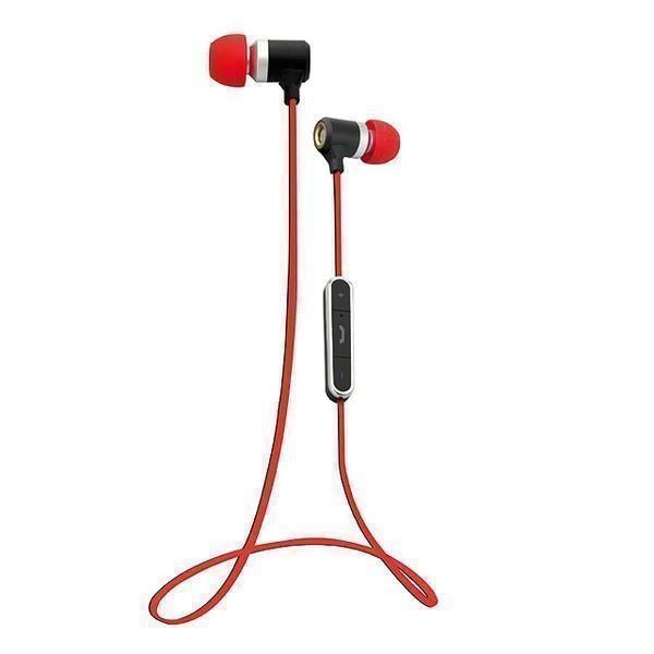 Auriculares Boton Vivanco 37585 Microfono Rojo