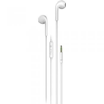 Auriculares Boton Vivanco Urb 40 W Cable Plano Microfono Blanco