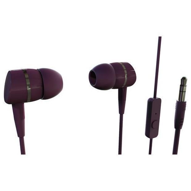 Auriculares Boton Vivanco 38012 Microfono Rojo