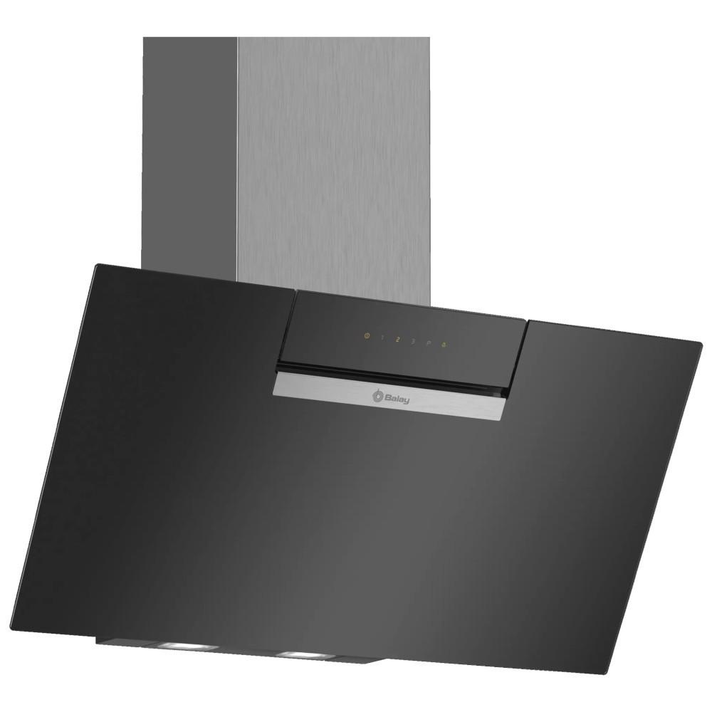 Campana Balay 586gn Decorativa 80cm Cristal Negra Inclinada