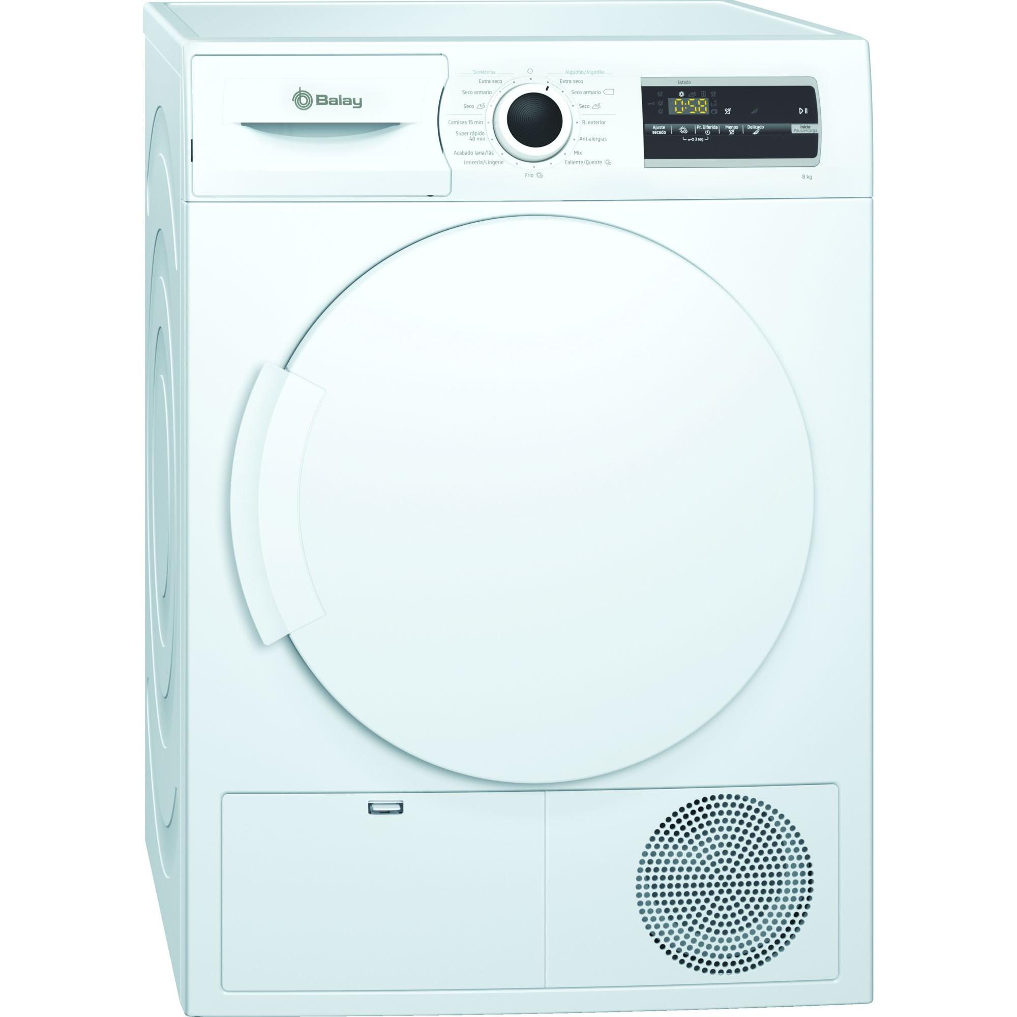 Secadora Condensacion Balay 3sc385b 8kg Blanca B