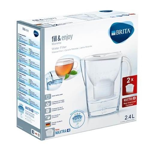 Jarra Agua Brita Marella Blanca 2,4l+2 Filtros Max