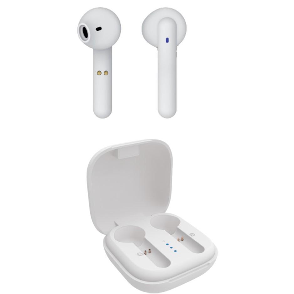 Auriculares Boton Vivanco Bluetooth 5.0 Sin Cable Blanco