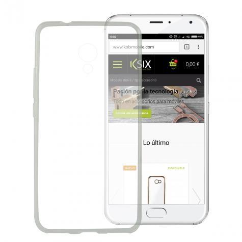Funda Flex Ksix Tpu Meizu M5s Transparente