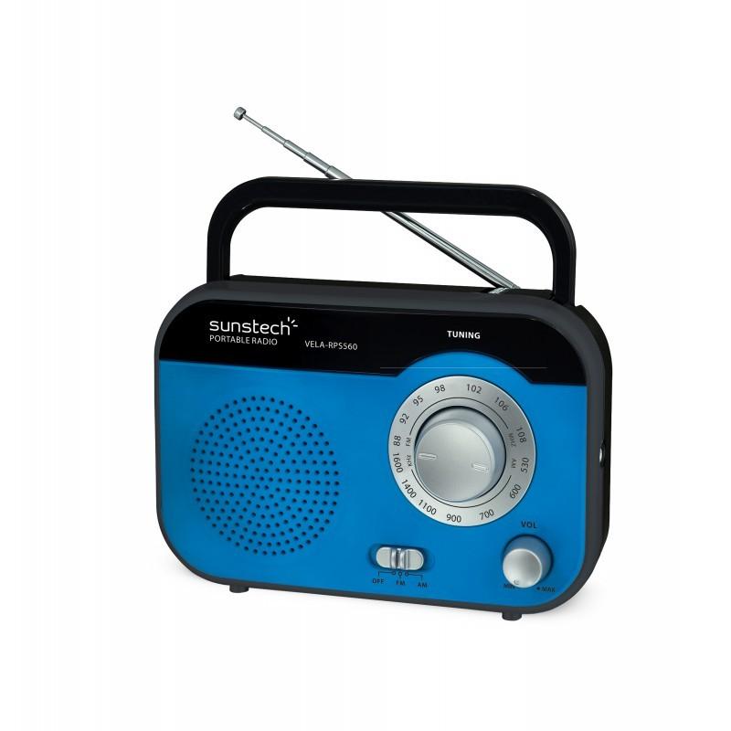 Radio Portatil Sunstech Rps560bl Pilas/Ac Azul