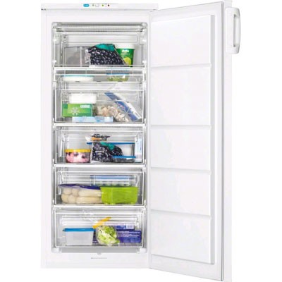 Congelador V Zanussi Zfu19400wa 125x55cm Blanco A+