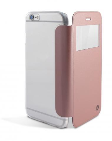 Funda Ksix Crystal View Iphone 6/6s Dorada Rosa