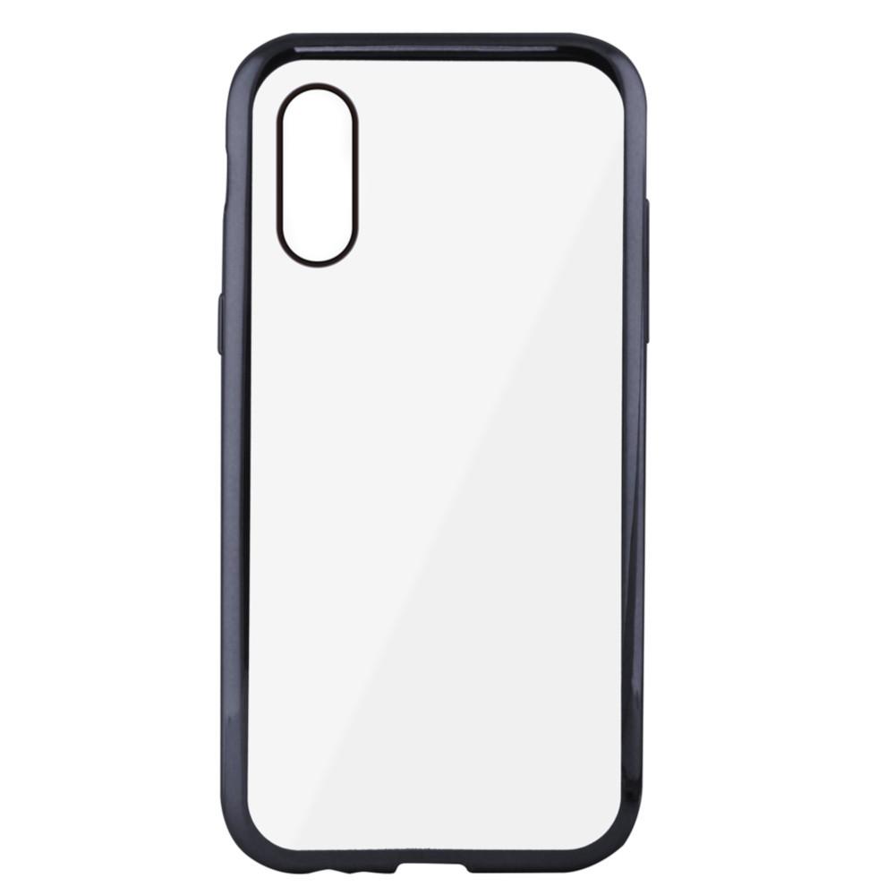 Funda Flex Metal Ksix Tpu Para Iphone X Metalitzado Gris