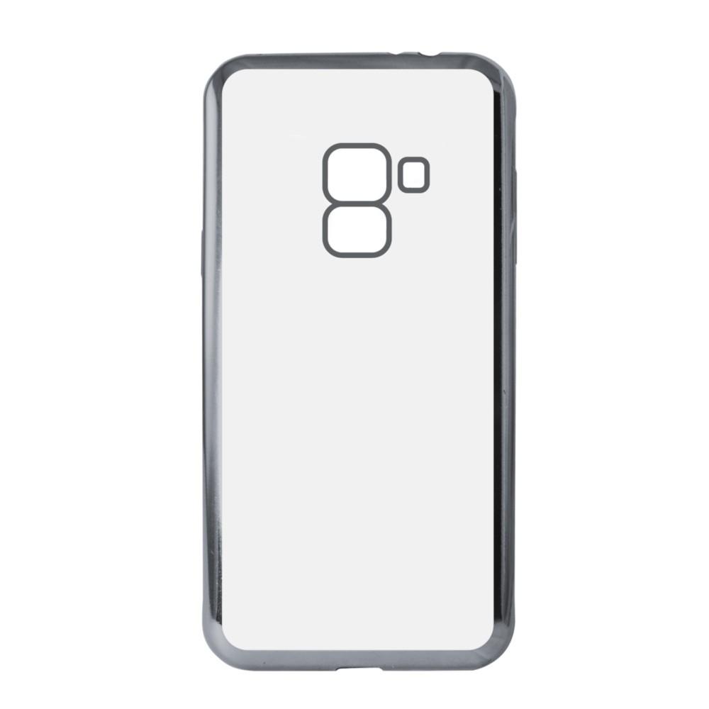 Funda Flex Metal Ksix Tpu Para Galaxy A8 2018 Metalitzado Gris