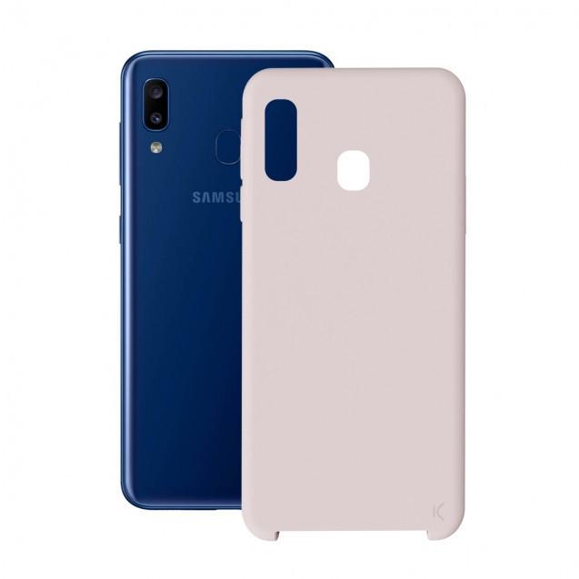 Funda Soft Ksix B8628cor16 Samsung Galaxy A20 Silicona Rosa