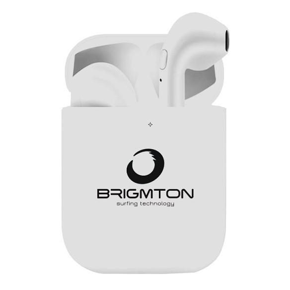 Auriculares Boton Brigmton Bml-18-B Bluetooth Blancos