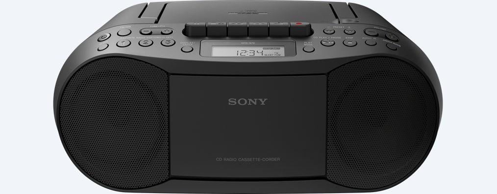 Radio Cd Sony Cfds70b Negro Con Cassette