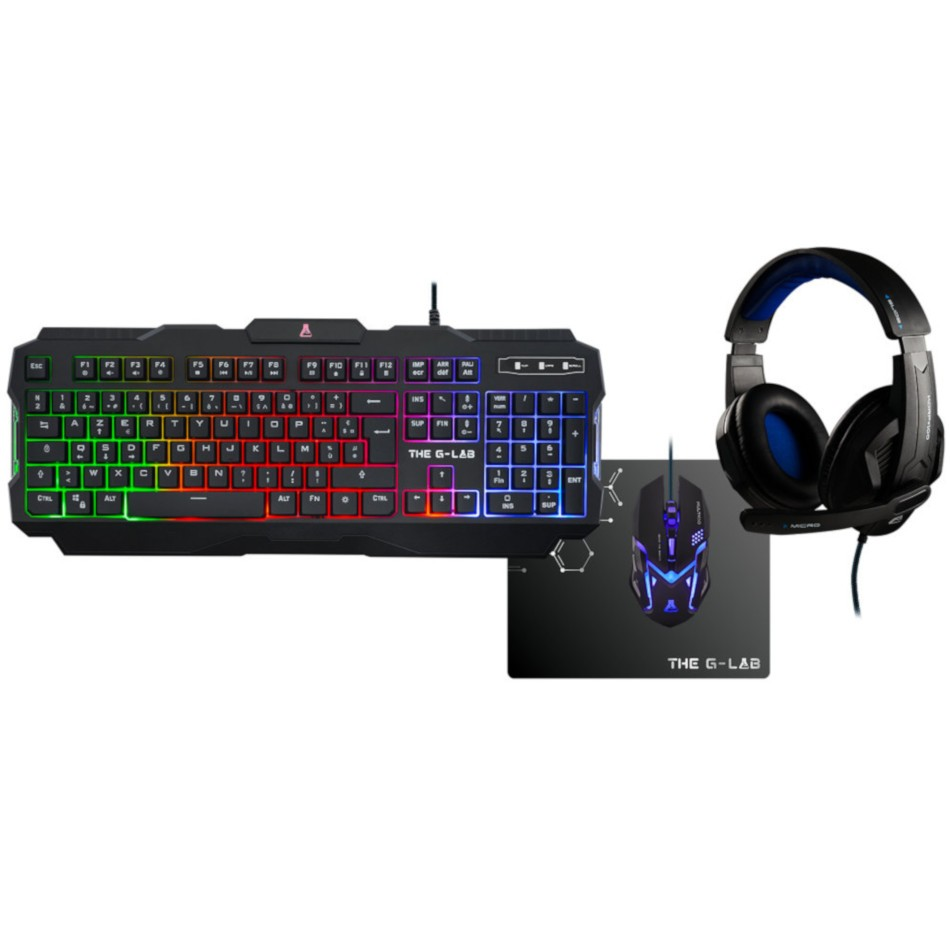 Pack Gaming Bluestork Combo-Argon/Sp Teclado+ Raton+ Auriculares Diadema