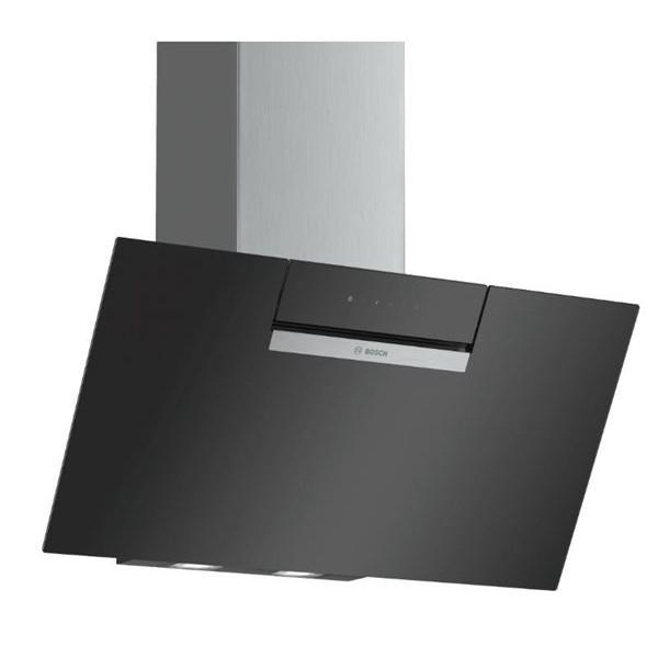 Campana Bosch Dwk87em60 Decorativa 80cm Vidrio Negro Inclinada