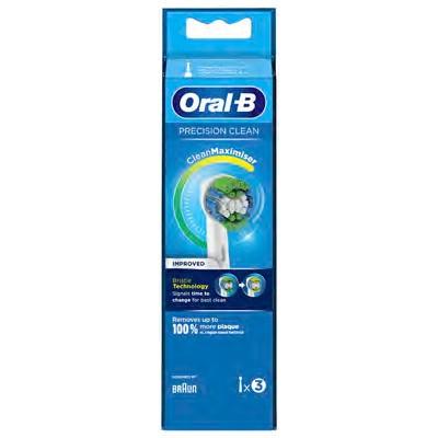 Recambio Cepillo Dental Braun Eb20-3ffs Precision Clean Adulto