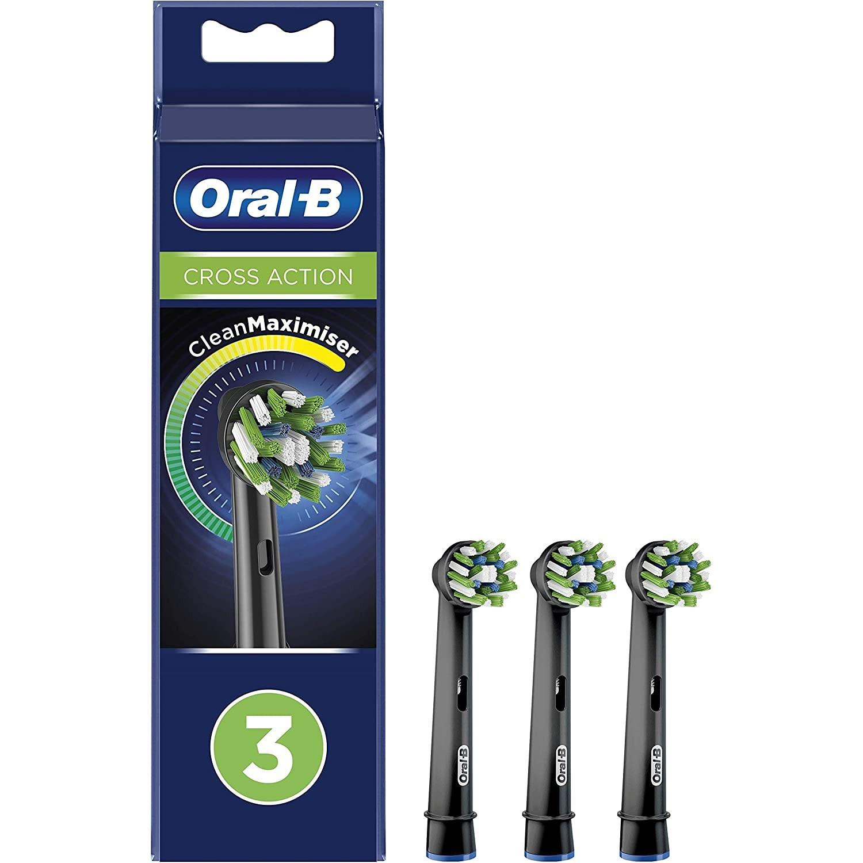 Recambio Cepillo Dental Braun Eb50-3 Cross Action Black  (3 Un)