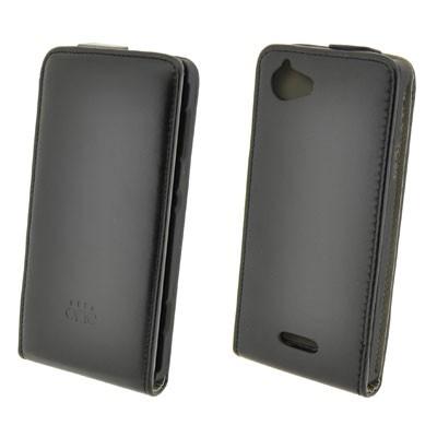 Funda 4-Ok Flip One Para Sony Xperia L Negra