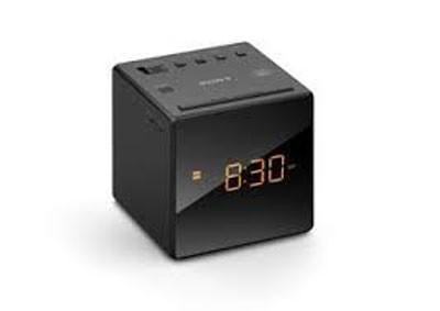 Radio Reloj Sony Icfc1b.Ced Negro