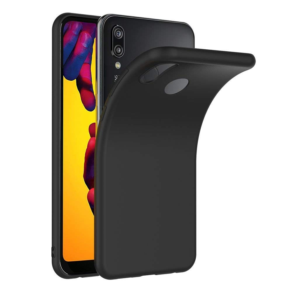 Funda Movil Huawei P20 Lite Silicona Negra