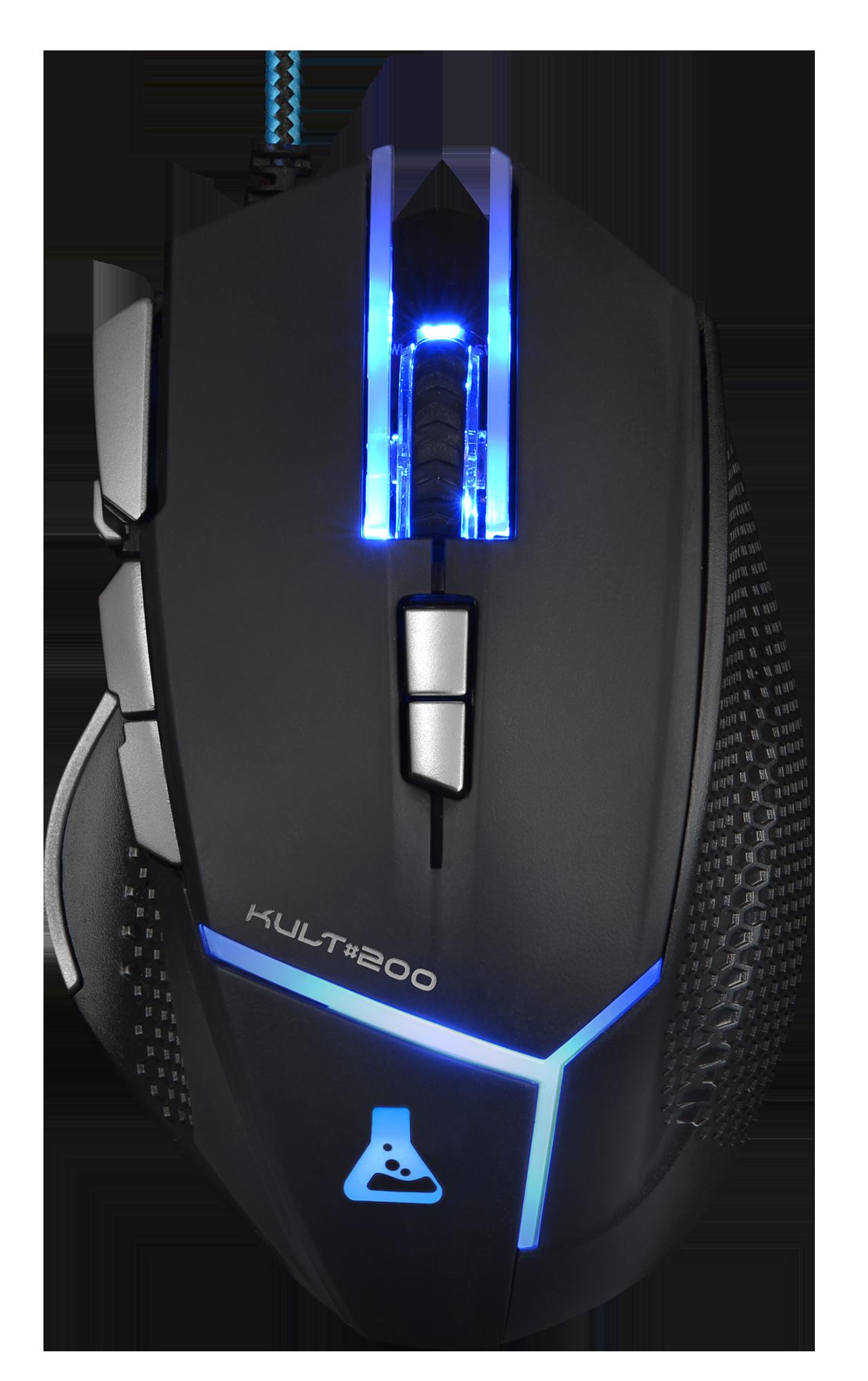Raton Gaming Bluestork Kult200 Negro/Azul