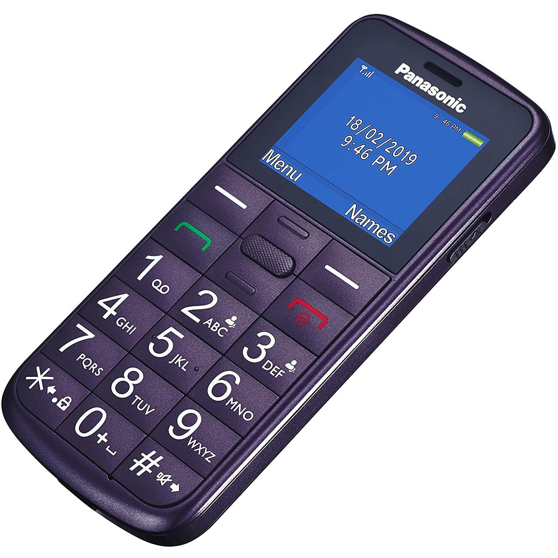 "Movil Panasonic 5025232891870 1.7"" Tft Color Iconos Grandes Violeta"
