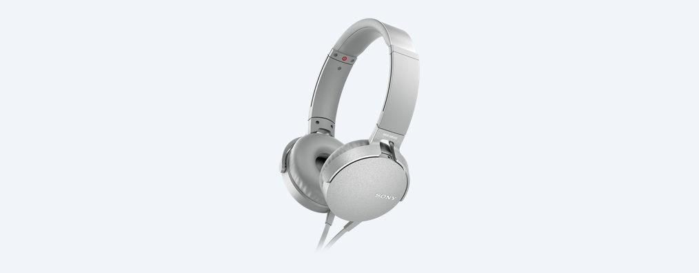Auricular Diadema Sony Mdr-Xb550apr Blanco Micro