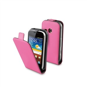 Funda Slim Rosa+protector Pantalla Galaxy Mini 2