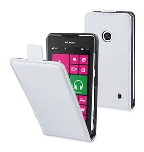 Funda Slim Blanca Muvit+protec. Nokia Lumia 520