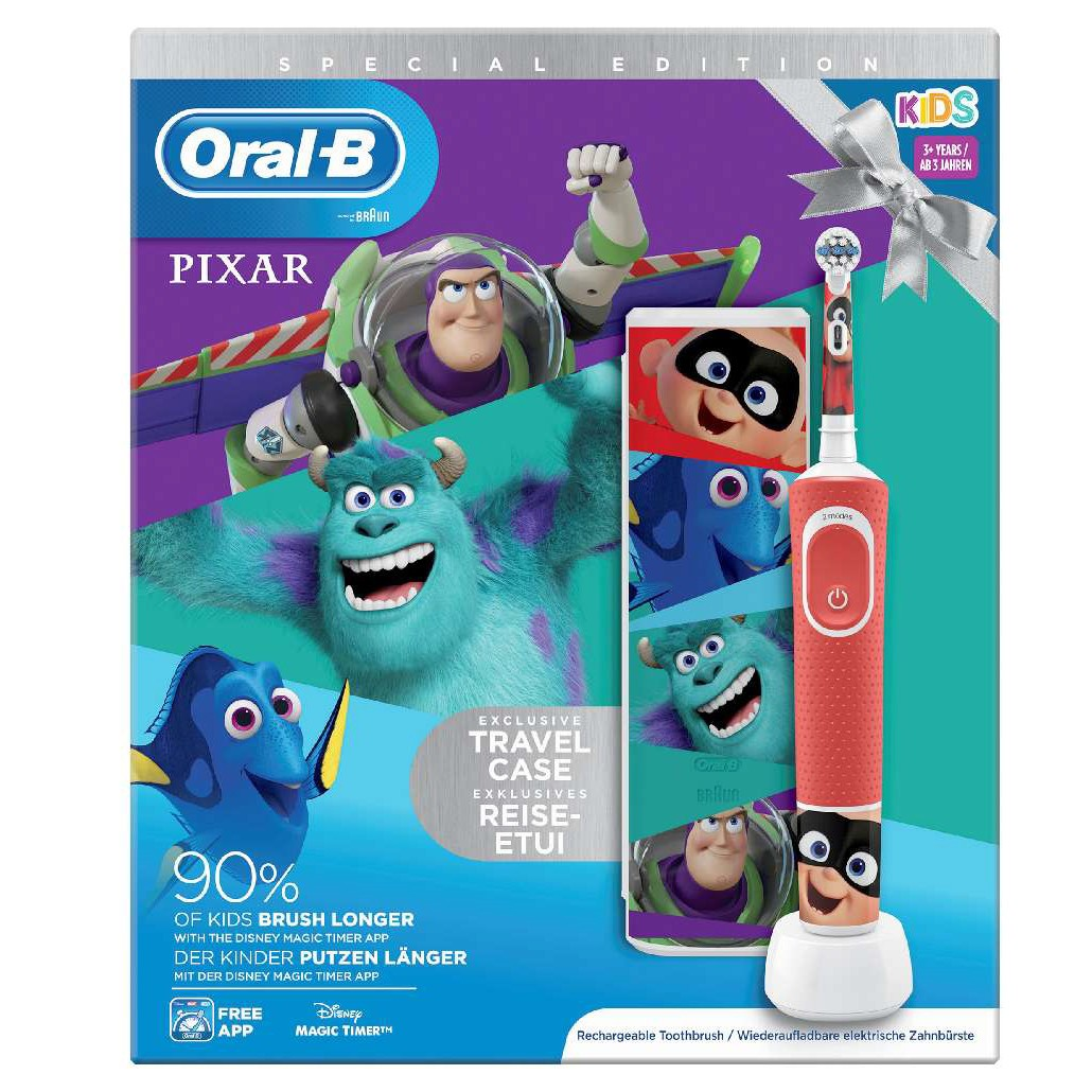 Cepillo Dental Braun Oral-B D100 Kids Pixar + Estuche