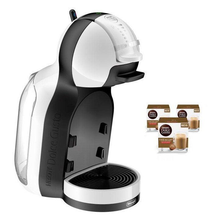 Cafetera+3 Paq Cafe Dolce Gusto Delonghi Mini Me Blanca