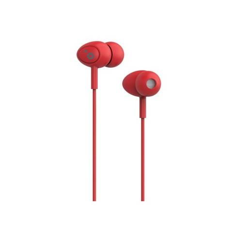 Auriculares Boton Sunstech Pops Microfono Rojo