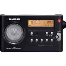 Radio Am-Fm Digital Sangean Recarregable Pr-D7 Neg
