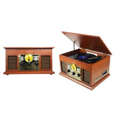 Tocadiscos Sunstech Pxrc5cd Madera Bluetooth