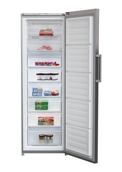 Congelador V Beko Rfne312k31xbn185cm Nf Look Inox A+