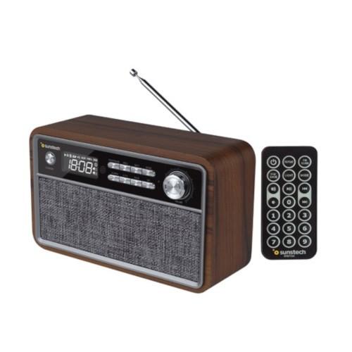 Radio Digital Sunstech Rpbt500wd Bluetooth Usb Wood