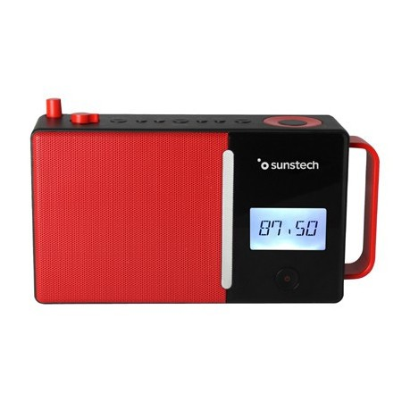 Radio Portatil Sunstech Rpds500rd Bluetooth Usb Roja