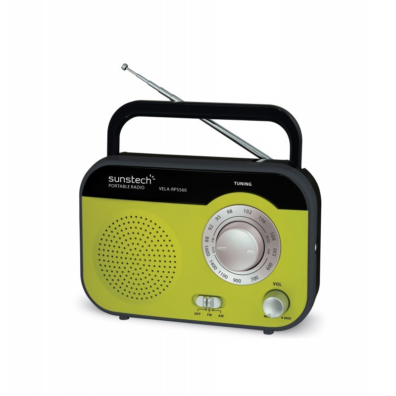 Radio Portatil Sunstech Rps560gn Pilas/Ac Verde