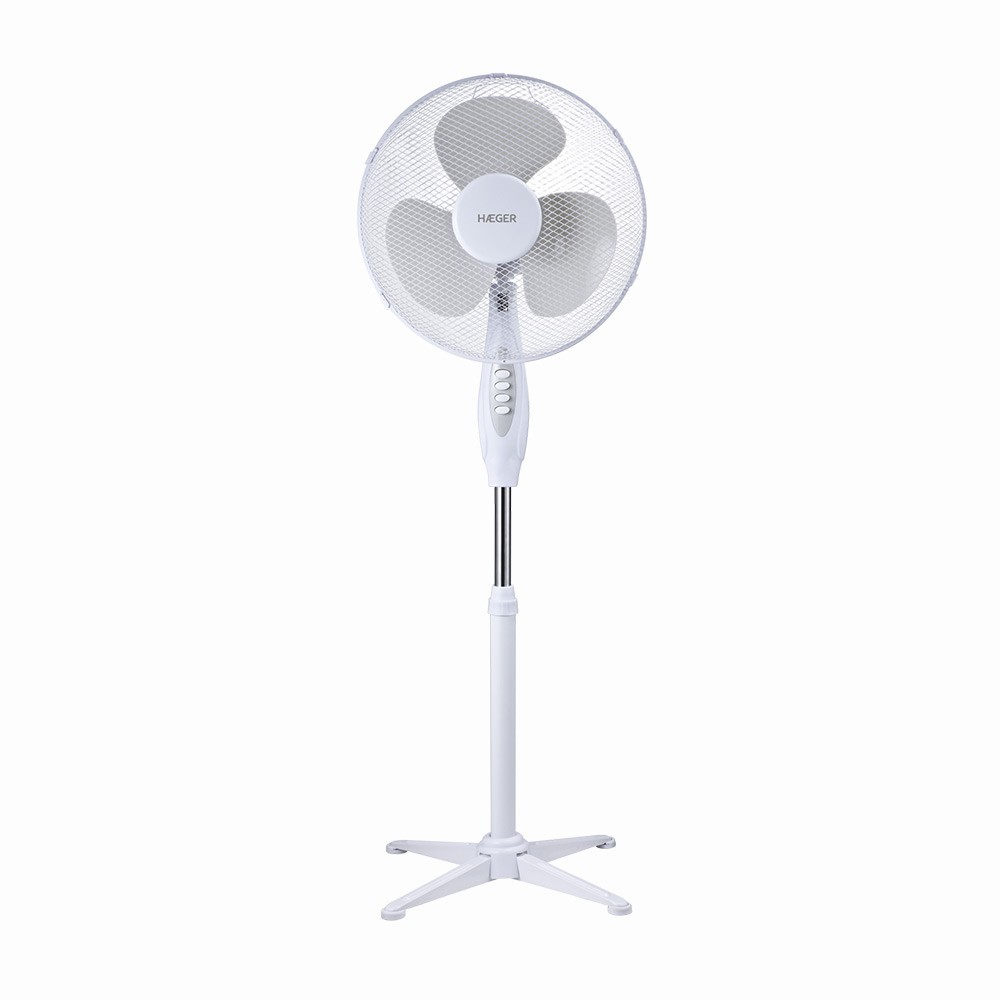 Ventilador Pie Haeger Sf16w009a Cross Wind 40cm 45w Blanco