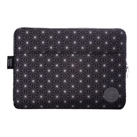 "Funda Tablet 13"" Silver Sanz Smile Sleeve Bag Black Geometric"