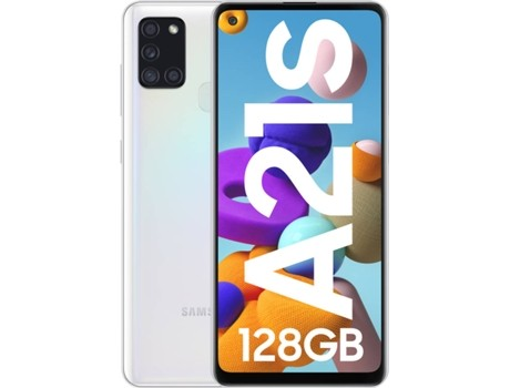 "Movil Samsung Galaxy A21s 6,5"" Octa Core 4+128gb 4 Cameres Blanco"