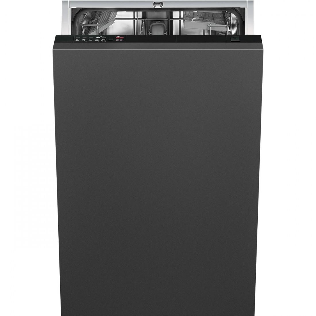 Lavavajillas Smeg St65221 45cm A+ Integrable Negro