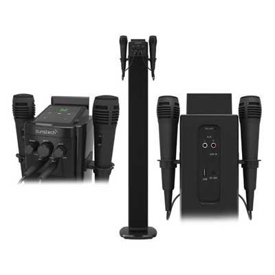 Torre Sonido Sunstech Stbtk150bk Altavoz+2 Micro